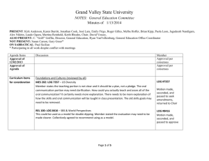 Minutes - Grand Valley State University