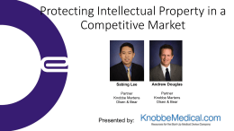 Protecting Intellectual Property in a Competitive Market