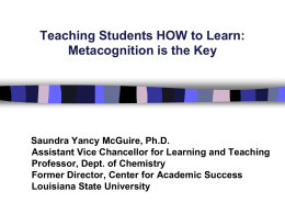 Improving Student Learning at LSU Replacing the
