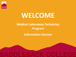 Medical Lab Tech Information