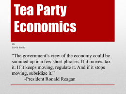 Tea Party Economics - New Paltz Central School District
