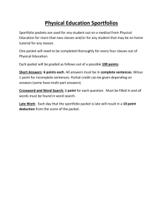Sportfolio Criteria - JCB Physical Education