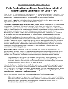 one-page summary - Brennan Center for Justice