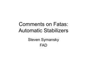 Comments on Fatas: Automatic Stablizers
