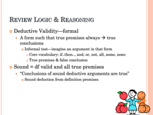 Review Logic & Reasoning
