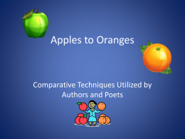 comparative techniques