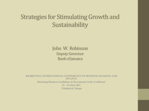 Strategies for Stimulating Growth and Sustainability Address Deputy