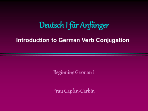Verbs - Web German