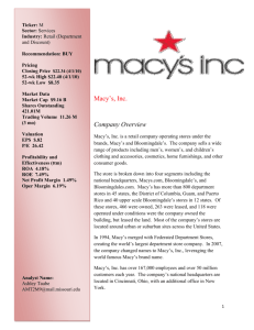 Macy's Security Analysis