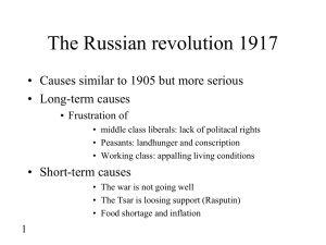 Notes on Russian Revolution 1917-1924