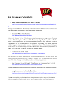 THE RUSSIAN REVOLUTION cat links