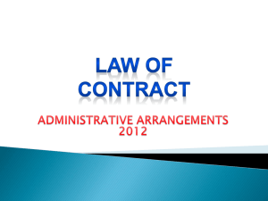 welcome to the law of contract!