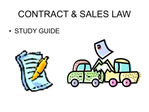 CONTRACT & SALES LAW sTUDY gUIDE