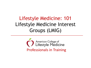 Intro - American College of Lifestyle Medicine