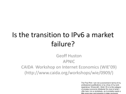 Is the transition to IPv6 a market failure? - Labs