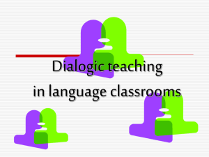 Dialogic teaching in language classrooms