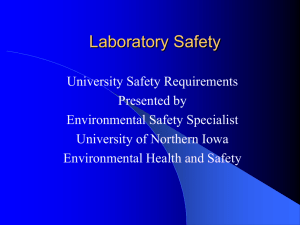 Laboratory Training - University of Northern Iowa