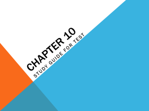 Review chapter 10