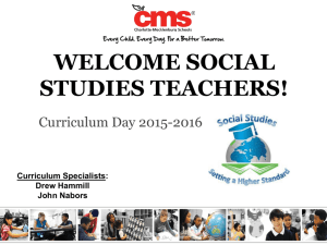 General Session Updates - CMS High School Social Studies