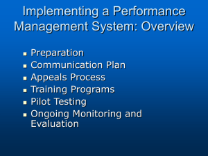 Chapter 7 - Implementing a Performance Management System
