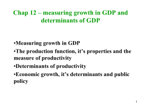 Chap 12 - Determinants of GDP and growth in GDP