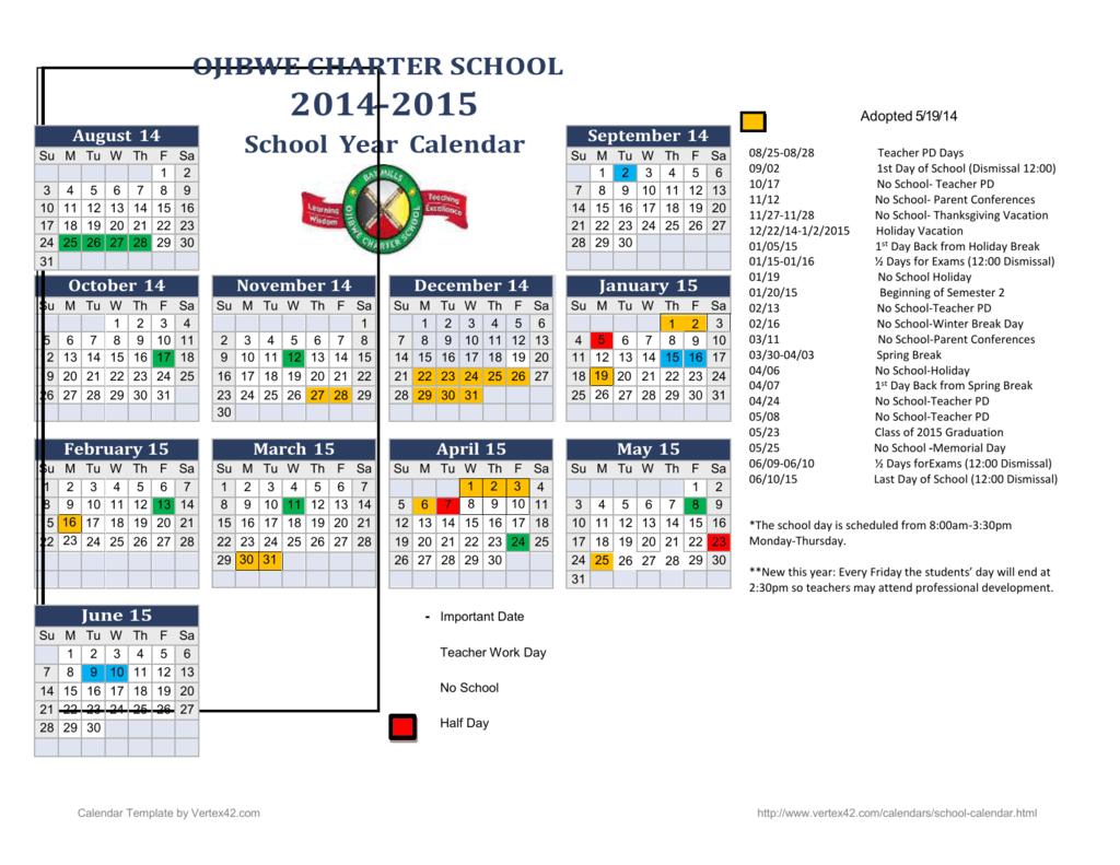 Teachers Calendar Template from s3.studylib.net