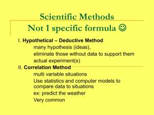 Biology Ch. 1 Scientific Method
