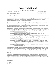 Major Works Data Sheet Kenton County Schools