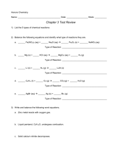 Chapter 3 Test Review Packet