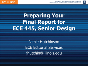 Preparing Your Final Report for ECE 445, Senior Design