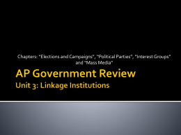AP Government Review Unit 2: Linkage Institutions