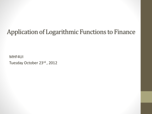 app of logarithmic functions to finance