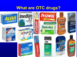 Over-the-counter (OTC) drugs