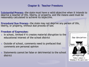 Chapter 8 Teacher Freedoms