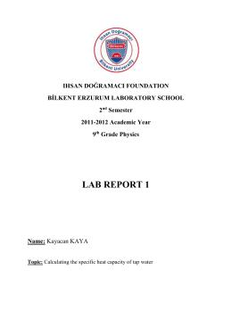 specific heat capacity lab report