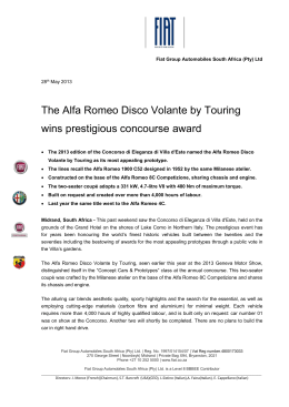 The Alfa Romeo Disco Volante by Touring wins prestigious
