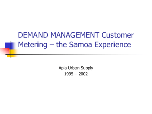 CASE STUDY – DEMAND MANAGEMENT