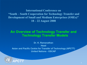 United Nations Asian And Pacific Centre For Transfer of Technology