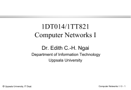 Distributed Systems - Department of Information Technology