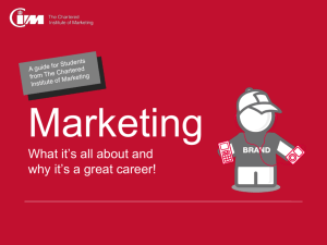 explaining why Marketing Makes a Great Career