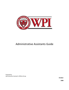 Administrative Services - Worcester Polytechnic Institute