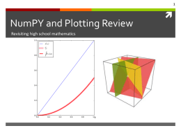 NumPY and Plotting Review