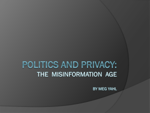 The Misinformation Age By Meg Yahl