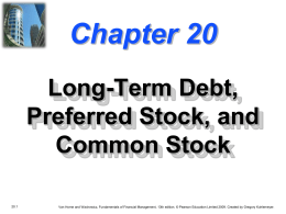 Chapter 20 -- Long-Term Debt, Preferred Stock, and