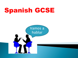 GCSE yr10 Spanish information for parents and students