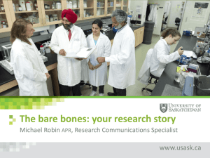 The bare bones: your research story.