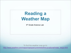 Reading a Weather Map - WLAScienceLab5