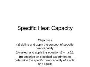 Specific Heat Capacity - science