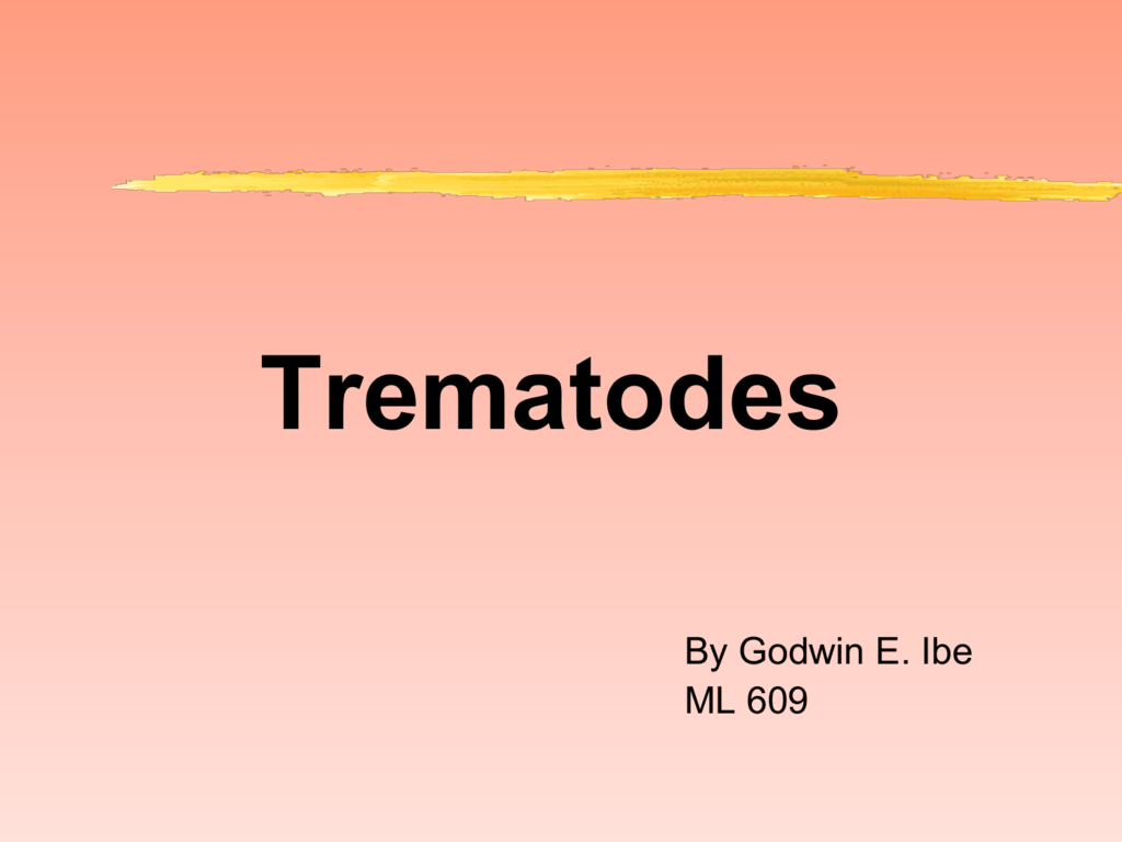 Trematode asexual reproduction of plants