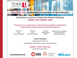 Industry and York University Research
